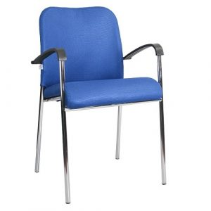 Офисный стул Amigo Lux Arm chrome W13 синий купить в Бресте у производителя БЕЛС