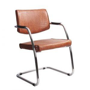 Стул офисный Delta PA Chrome коричневый кожа купить в Бресте у производителя БЕЛС