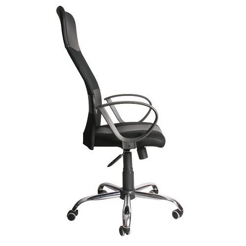Кресло руководителя Master GTPRCh1 WRS черный вид сбоку фото