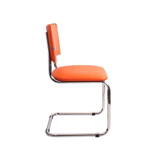 Стул офисный Sylwia Chrome оранжевый вид сбоку купить в Бресте у производителя БЕЛС