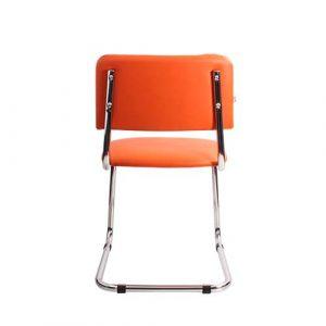 Стул офисный Sylwia Chrome оранжевый вид сзади купить в Бресте у производителя БЕЛС