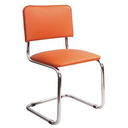 Стул офисный Sylwia Chrome оранжевый купить в Бресте у производителя БЕЛС