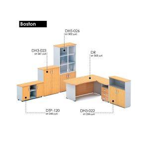 БОСТОН - серия офисной мебели - артикулы - цена - схема