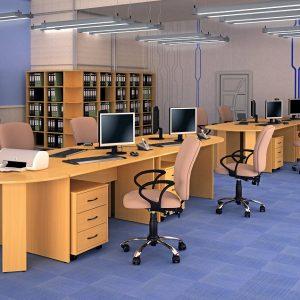 КЛАССИК - серия офисной мебели - интерьер №3 купить в Бресте у производителя БЕЛС