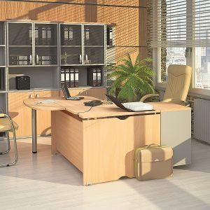 МИЛАН - серия офисной мебели - интерьер №1 купить в Бресте у производителя БЕЛС