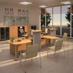 МИЛАН - серия офисной мебели - интерьер №3 купить в Бресте у производителя БЕЛС