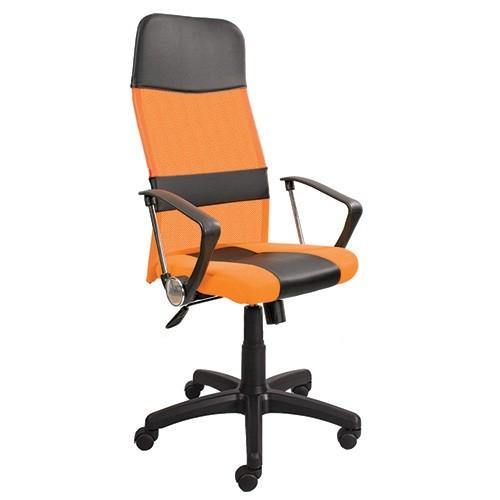 Кресло руководителя Master gtpHCh1 черный с оранжевым купить в Бресте, Минске у производителя БЕЛС