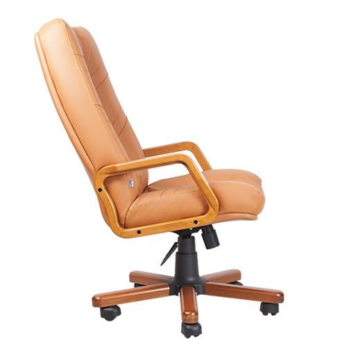 Кресло для руководителя Minister Extra охра вид сбоку купить в Бресте, Минске у производителя мебели БЕЛС
