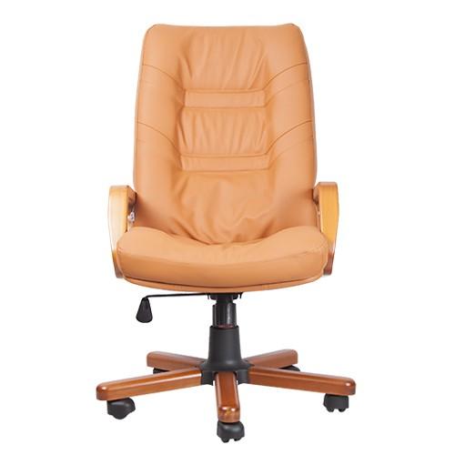 Кресло для руководителя Minister Extra охра вид спереди купить в Бресте, Минске у производителя мебели БЕЛС
