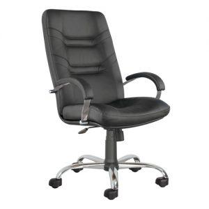 Кресло офисное для руководителя Minister steel chrome PU01 купить в Бресте, Минске у производителя мебели БЕЛС