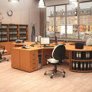 МОНО-ЛЮКС - серия офисной мебели - интерьер №1 купить в Бресте у производителя БЕЛС