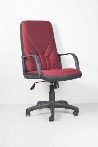 Кресло офисное Manager бордо сетка ТА фото