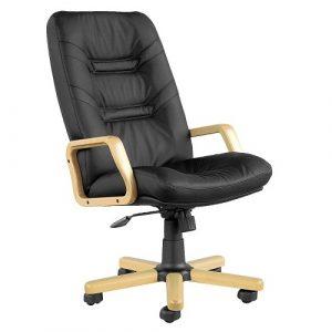 Кресло для руководителя Minister Extra черная кожа фото