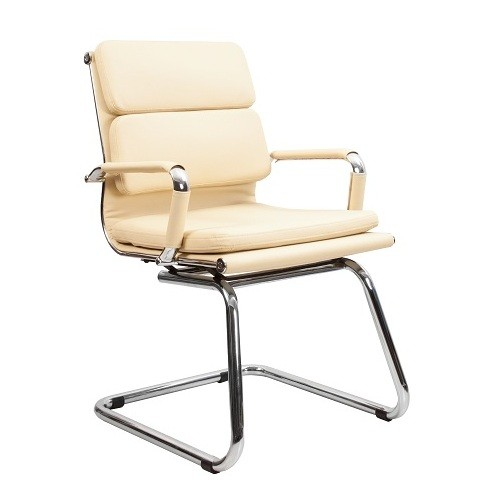 Кресло офисное Кресло офисное для персонала Nord Lux CF LB цвет молочный на полозьях