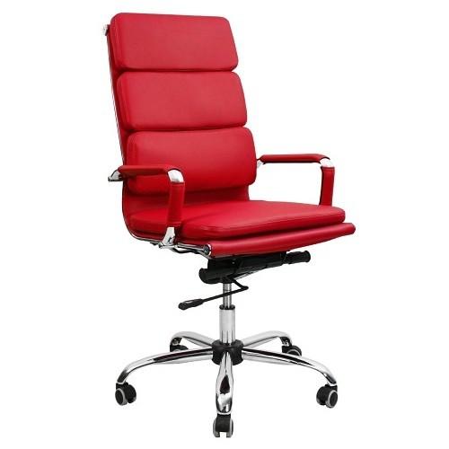 Кресло офисное для персонала Nord Lux красный в Бресте - купить у производителя БЕЛС