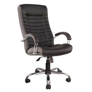 Кресло офисное для руководителя Atlantis Chrome черный купить в Бресте у производителя БЕЛС