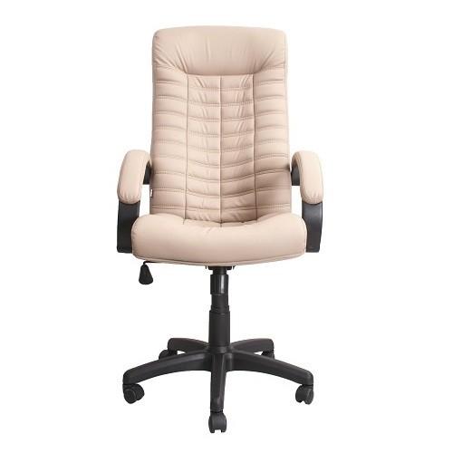 Кресло офисное для руководителя Atlantis PScN молочный вид спереди купить в Бресте у производителя БЕЛС