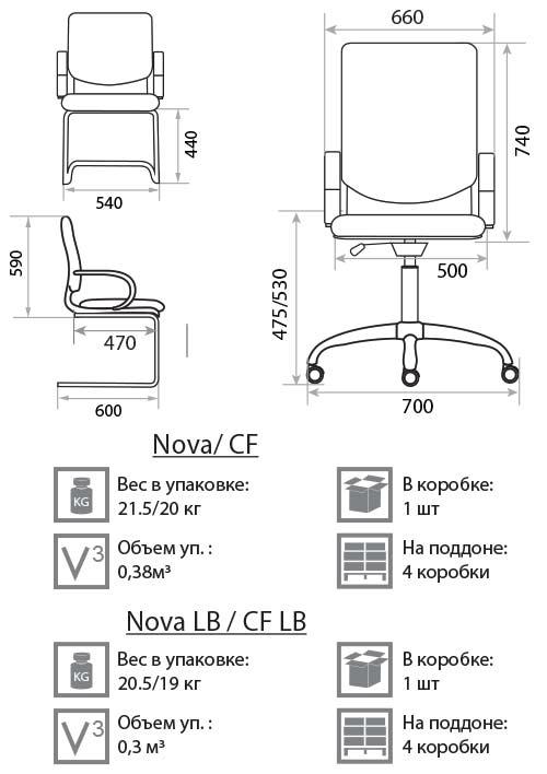 Кресло Нова размеры картинка