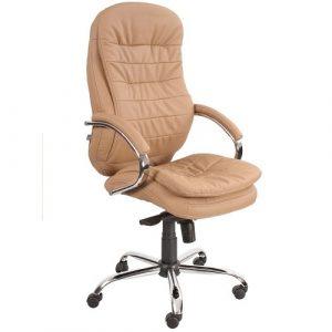 Кресло офисное для руководителя Montana T2 Steel Chrome бежевый купить в Бресте у производителя БЕЛС