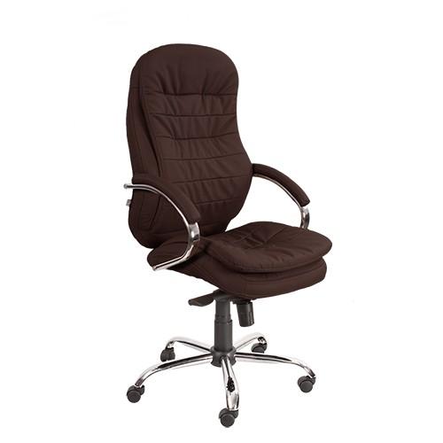 Кресло офисное для руководителя Montana T2 Steel Chrome коричневый купить в Бресте у производителя БЕЛС