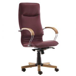 Кресло офисное для руководителя Nova Wood Chrome LE-C купить в Бресте у производителя мебели БЕЛС
