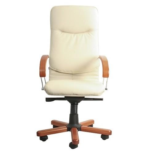 Кресло офисное для руководителя Nova wood chrome SP-J вид спереди купить в Бресте у производителя БЕЛС