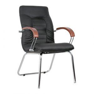 Кресло офисное для руководителя Olympus Wood Chrome CFA L купить в Бресте у производителя мебели БЕЛС