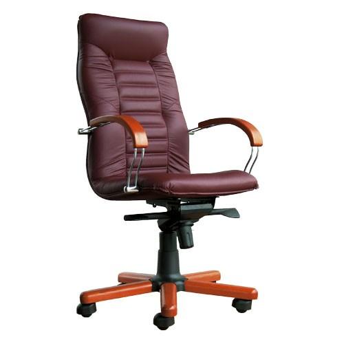 Кресло офисное для руководителя Olympus Wood Chrome купить в Бресте у производителя БЕЛС