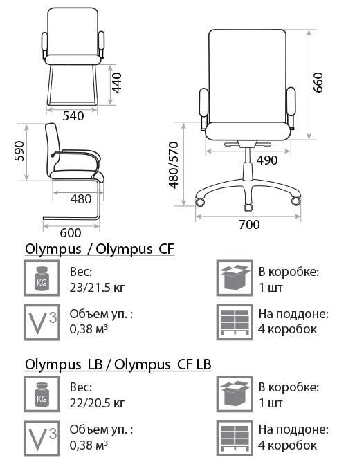 Olympus размеры