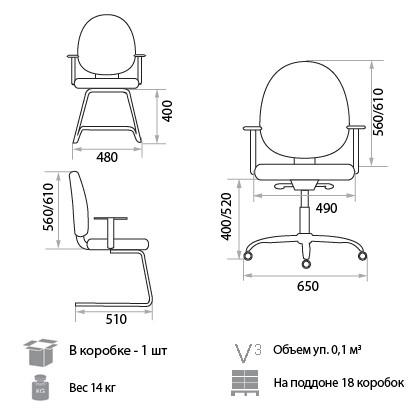 Кресло Pluton размеры