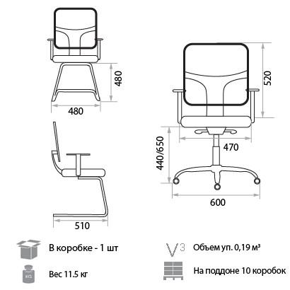 кресло Ted размеры