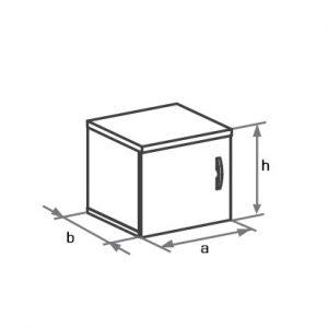 Антресоль к узкому шкафу DH1-002 схема