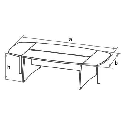 Конференц-стол DRK-280 схема