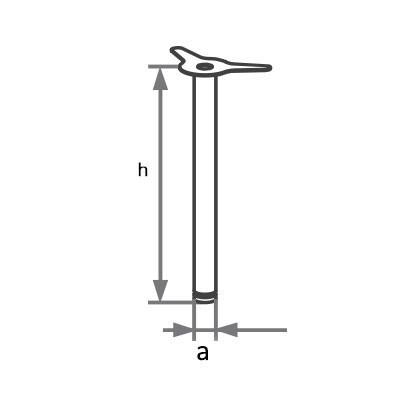 Опора для мебели хром 900.802.600 схема