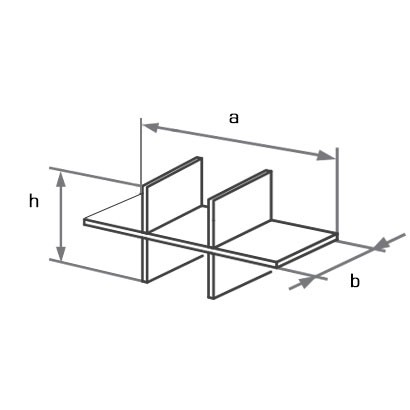Полка-органайзер для шкафа на 6 ячеек D18.862 схема