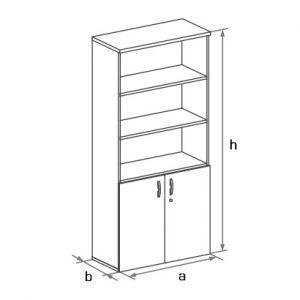 Шкаф офисный DH5-022 схема