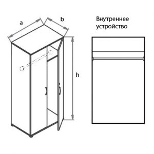Шкаф-гардероб G5A05 схема