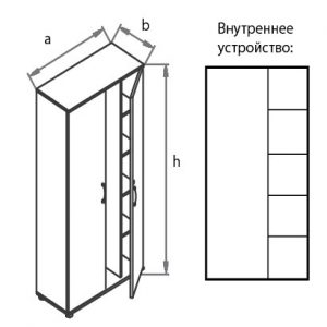 Шкаф-гардероб G5S05 схема