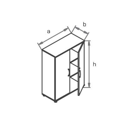 Шкаф офисный R3S03 схема