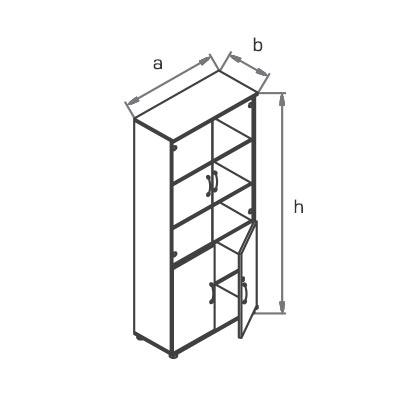 Шкаф офисный R5S72 схема