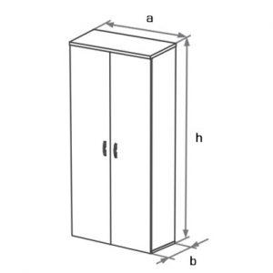 Шкаф-гардероб DGS-021 схема