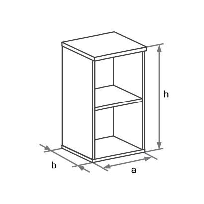 Шкаф-стеллаж низкий DH2-001 схема