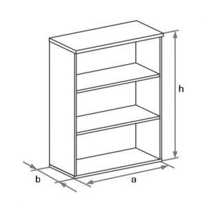 Шкаф-стеллаж офисный DH3-021 схема