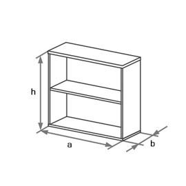 Шкаф-стеллаж офисный низкий DS2-001 схема