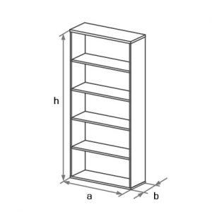 Шкаф-стеллаж офисный высокий DS5-001 схема