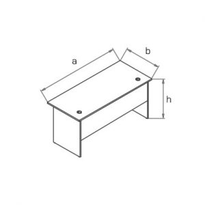 Стол офисный прямоугольныйBB схема