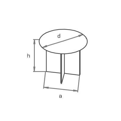 Стол круглый письменный BR схема
