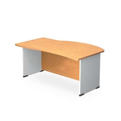 Стол офисный угловой асимметричный с брифинг-зоной DD купить в Бресте, Минске, РБ у БЕЛС (производитель мебели РБ)