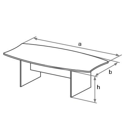 Конференц-стол офисный DKS-240 схема