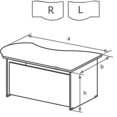 Стол угловой офисный DN схема
